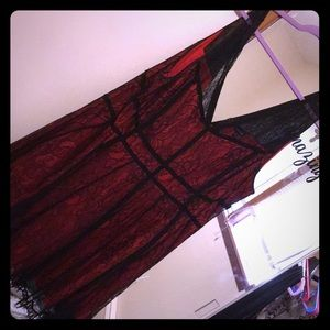 Torrid red lace dress size 28